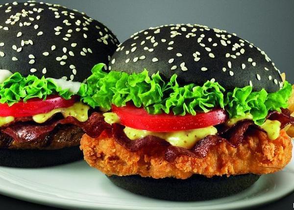 Hasil gambar untuk burger hitam